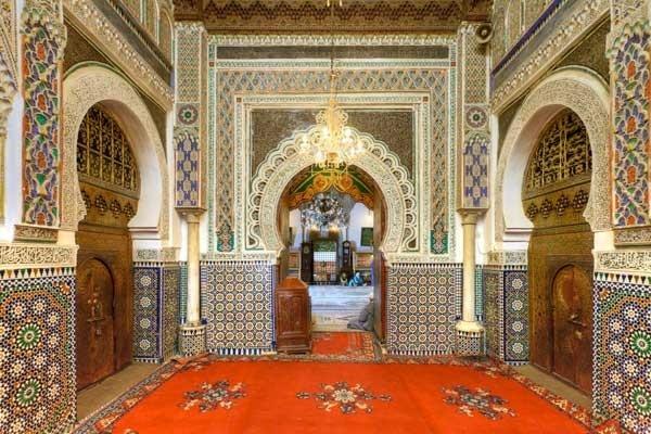 El Mausoleo  de Moulay Idrís Zerhoun.