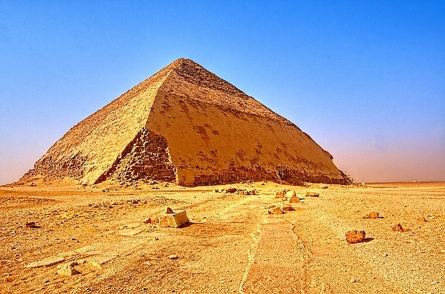 The Bent Pyramid of Dahshur in Giza