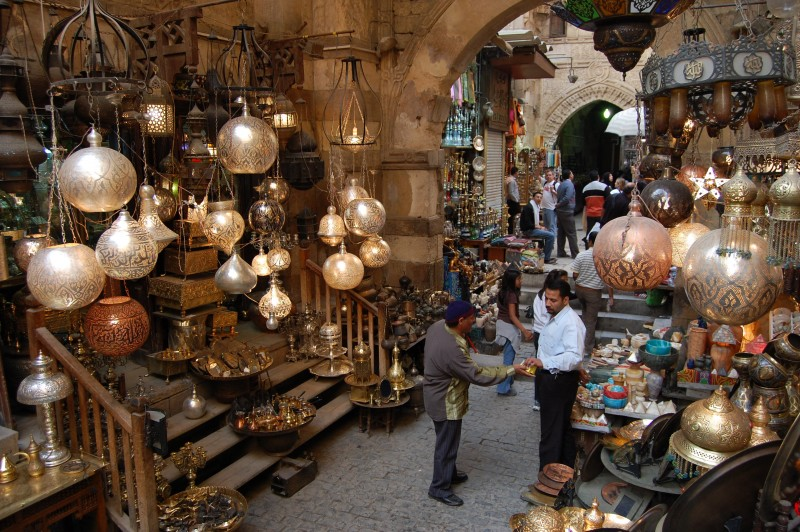 Khan El Kahlili Bazaar in Old Cairo