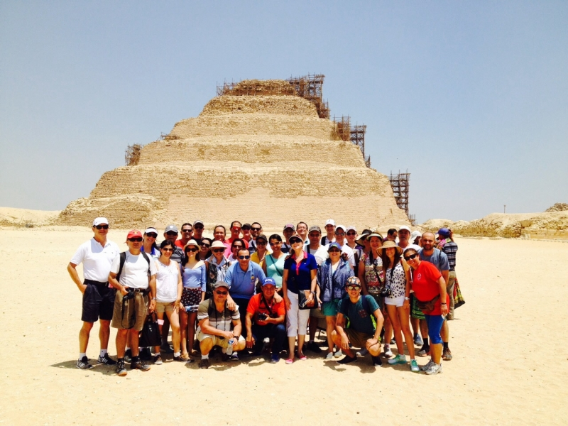 La Pirámide escalonada de Zoser en Saqqara