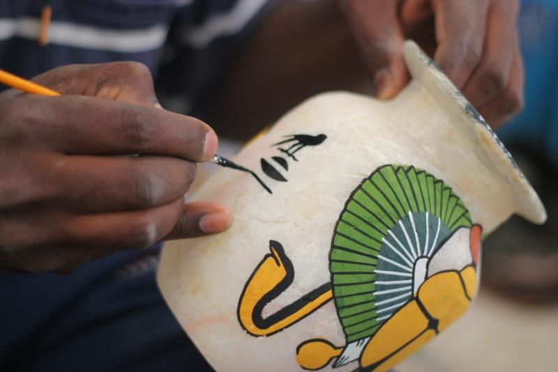 Handicrafts in Luxor, Egypt