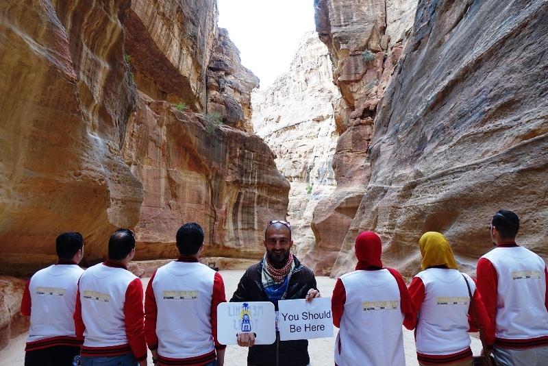 Siq of Petra, Jordan.