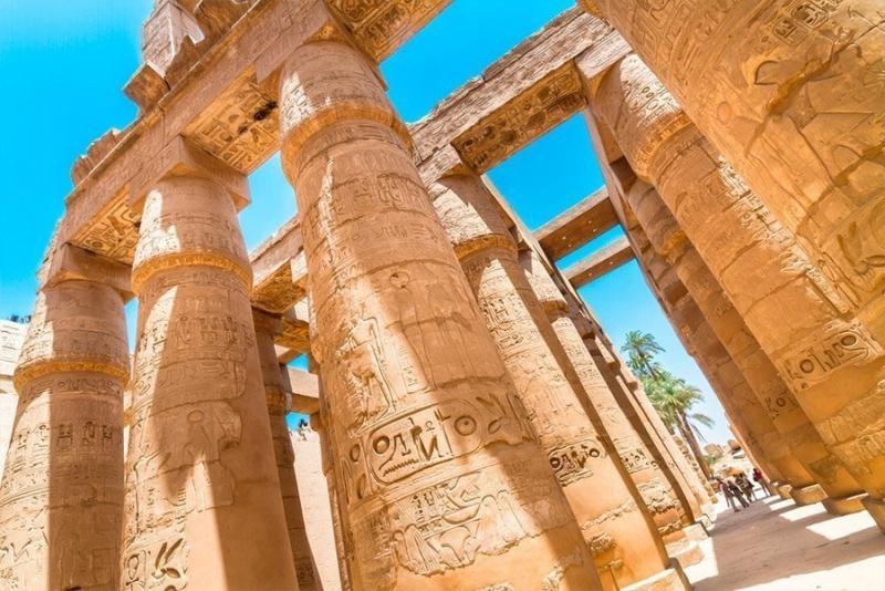 O Templo de Karnak, Egito.