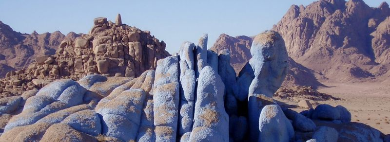 The Blue Desert Art Canvas of Egypt