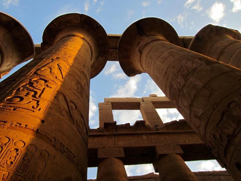La Sala Ipostila del Tempio di Karnak