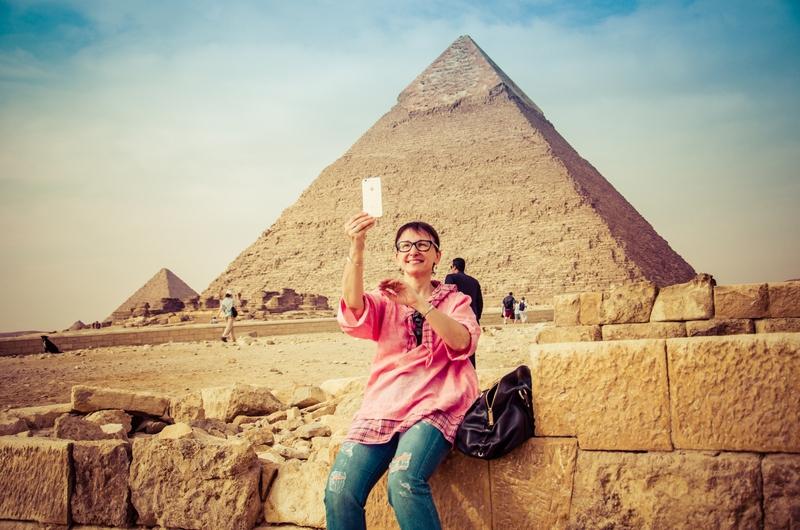 Selfie at the Pyramids, Cairo