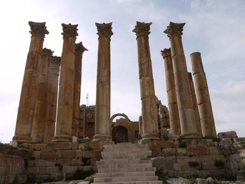 Temple of Artemis at Jerash, Jordan