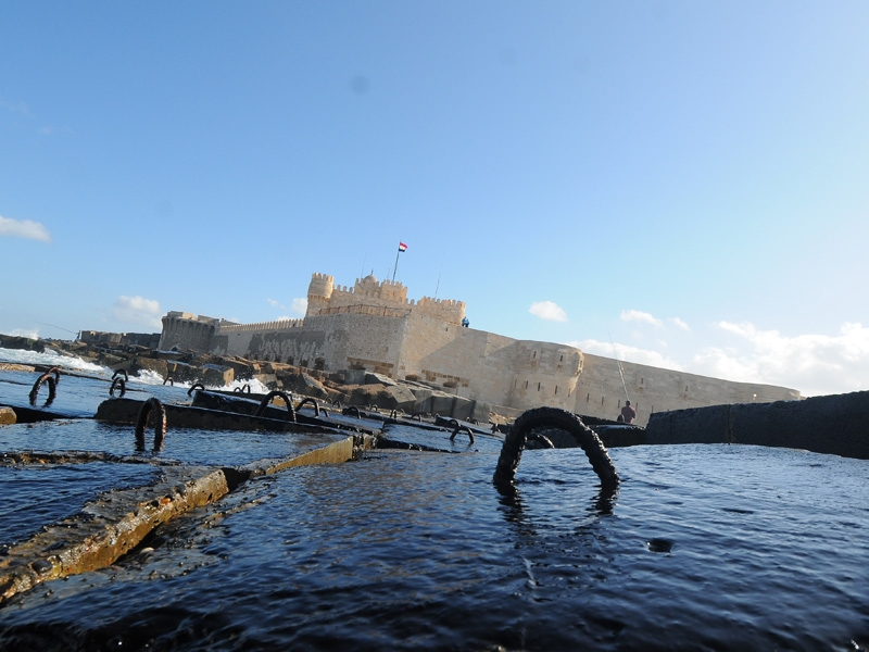 Qaitbay Citadel in Alexandria   Fort Qaitbay Egypt