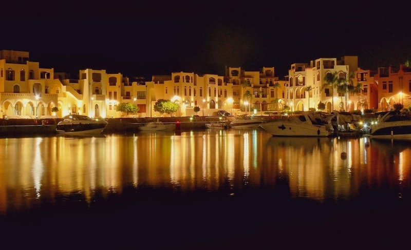 Aqaba Marina by Night