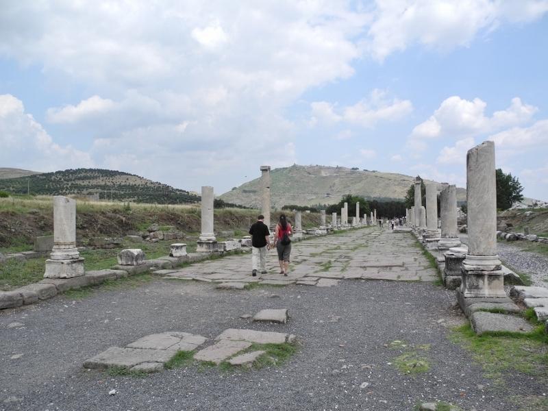 El Teatro de helenístico en la acrópolis de Pérgamo