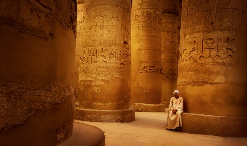 The Great Hypostyle Hall at Karnak Temple