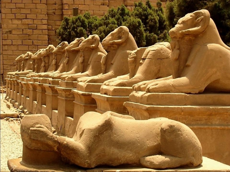 Sphinxes Avenue at Karnak Temple