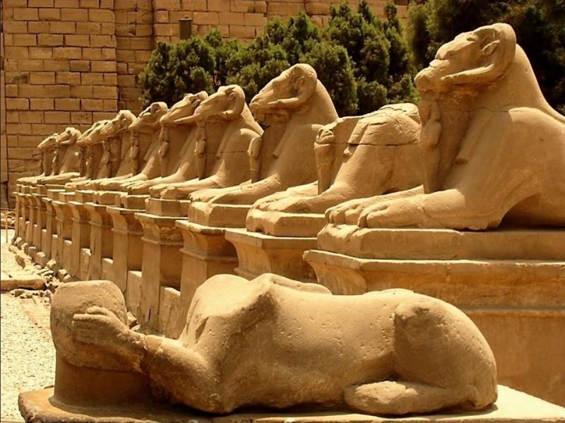 Sphinxes Avenue at Karnak Temple