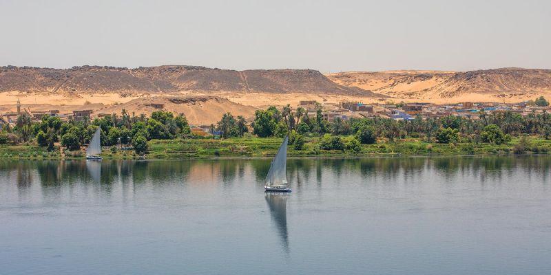 Faluca por el Nilo