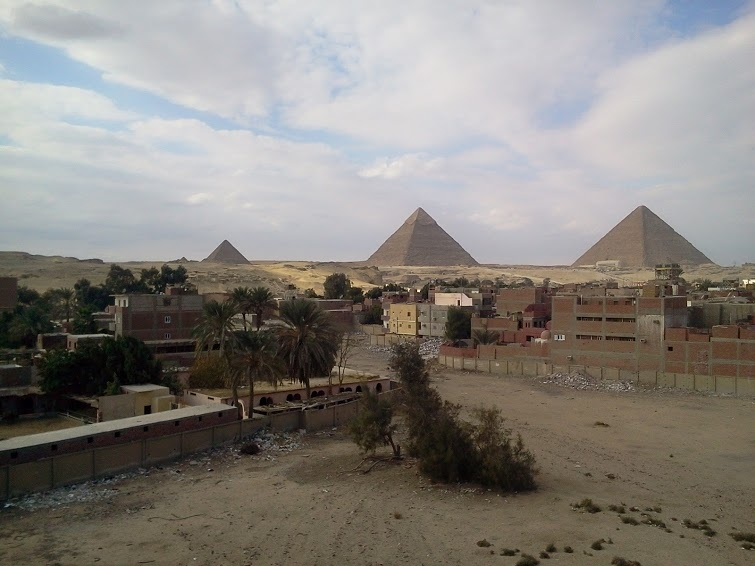 Amazing view of the Pyramids
