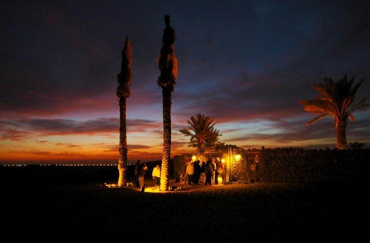 Acampamento no deserto de Abu Dhabi