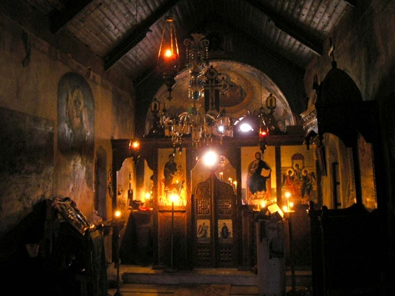 Inside St. Catherine Monastery in Sinai