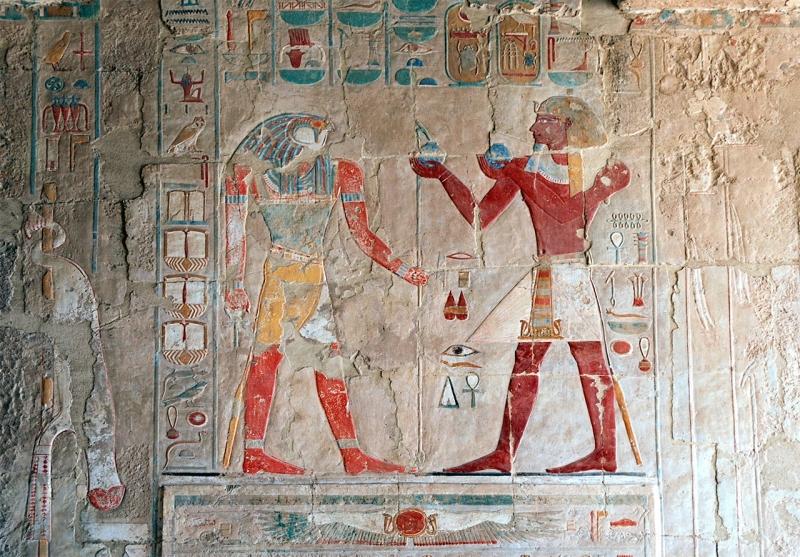 Decoração no Templo da Rainha Hatshepsut