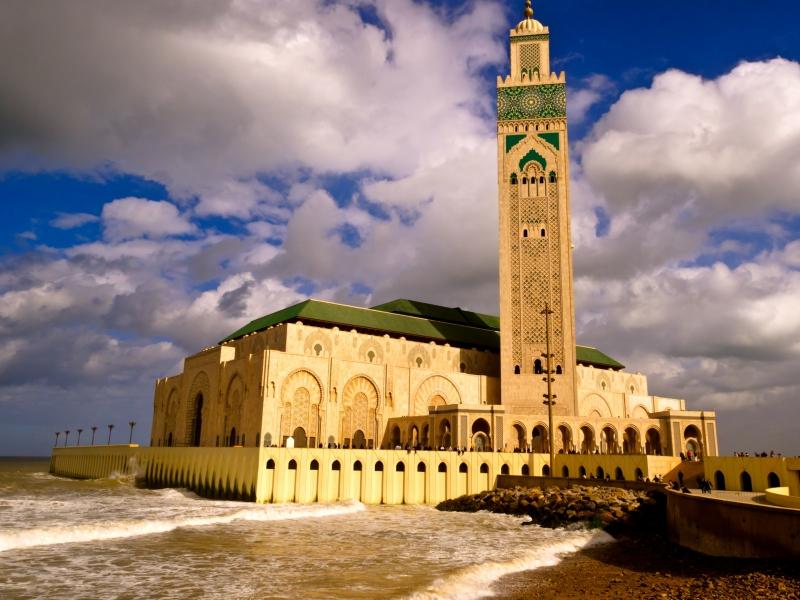 A Mesquita de Hassan II, Marrocos.