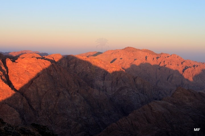 Sunset over Moses Mount in Sinai