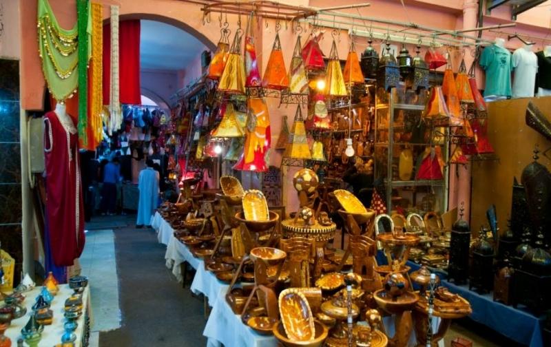 Mercado, El souk de Marrakech, Marruecos