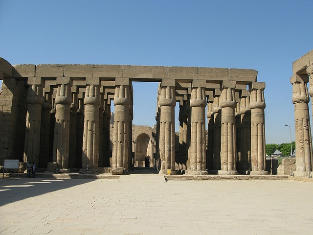 The High Columns of Amenhotep III Temple