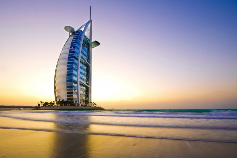 Burj Al Arab During Sunset