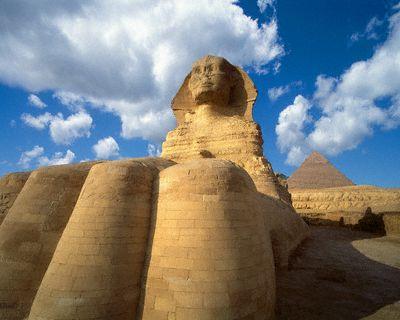 The Sphinx at Giza, Cairo