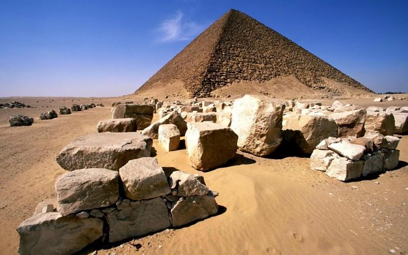 Snofru's Red Pyramid at Dahshur in Giza