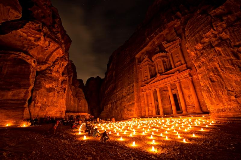 Petra At Night, Jordan