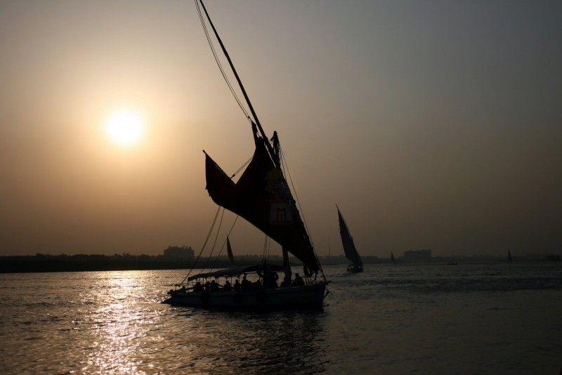 Sunset View during the Felucca sailing, Aswan