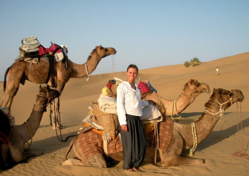 Camel Ride by Giza Pyramids