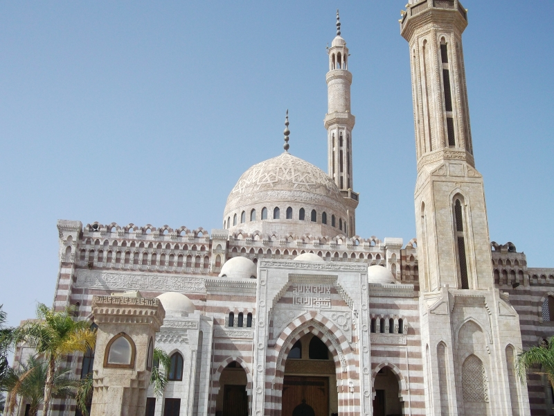 The Famous mosque in Sharm El Sheikh