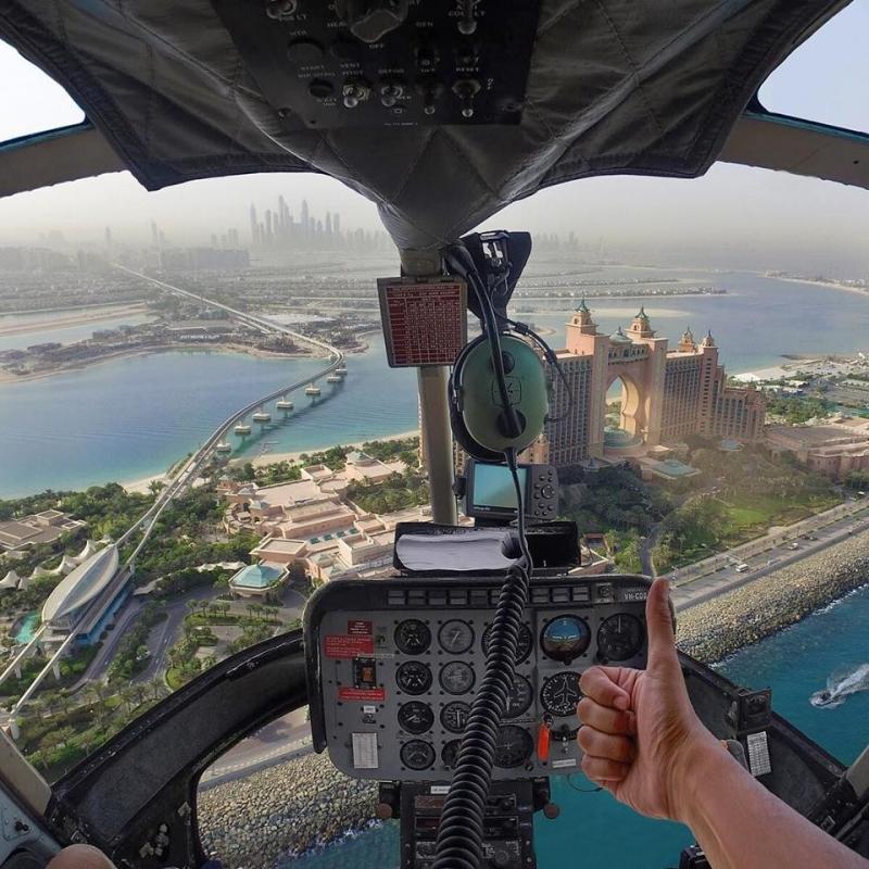 Hubschrauberflug Dubai