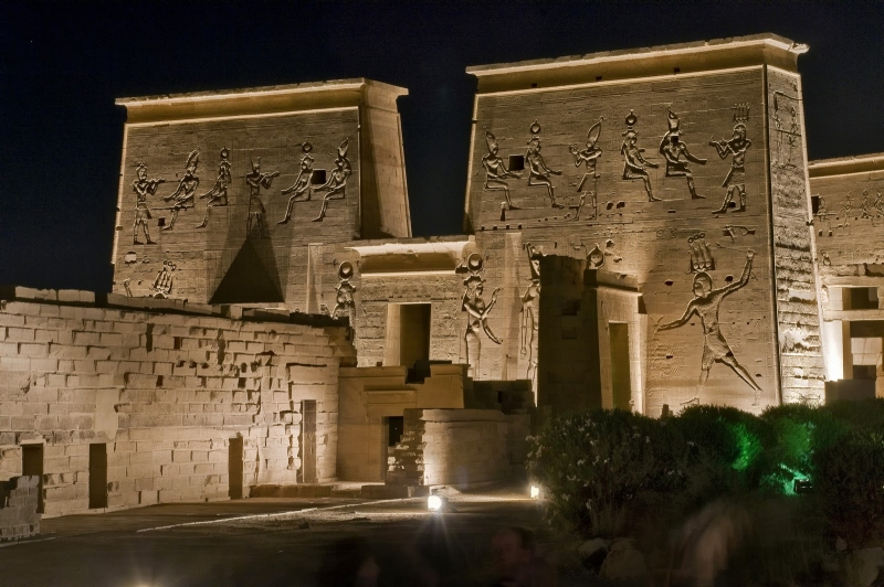 Philae Temple At Night