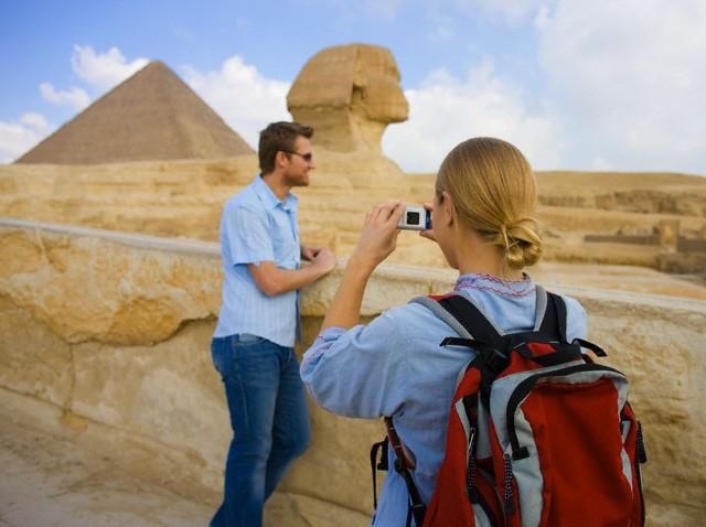 Giza Pyramids and Sphinx in Egypt