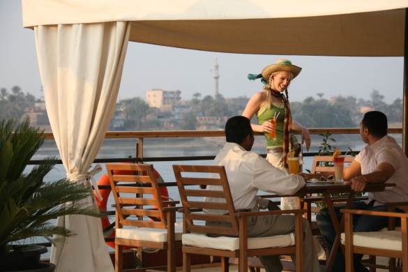 MS Nile Dolphin Nile Cruise Sundeck Restaurant