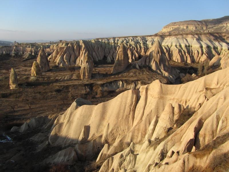 Paysage de Cappadoce avec ses sculptures naturelles