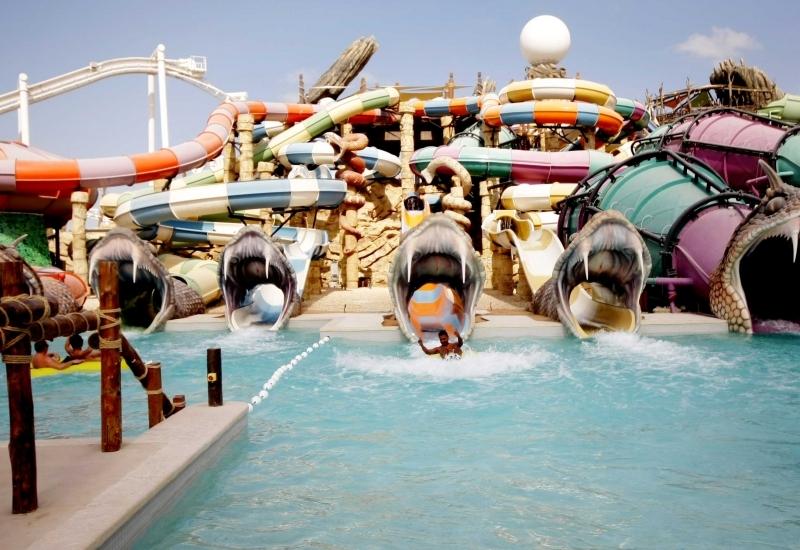 El parque acuático de Yas