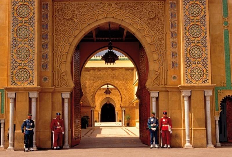 Porte d'entrée du Palais Royal, Rabat