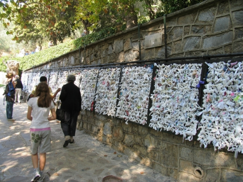 The Wall of Virgin Marry House