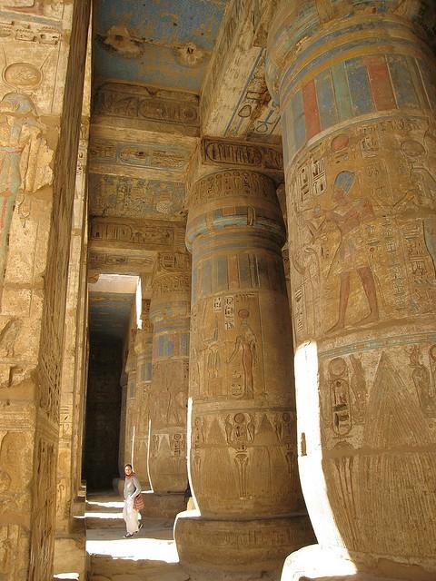 Temple of Madinet Habu Columns