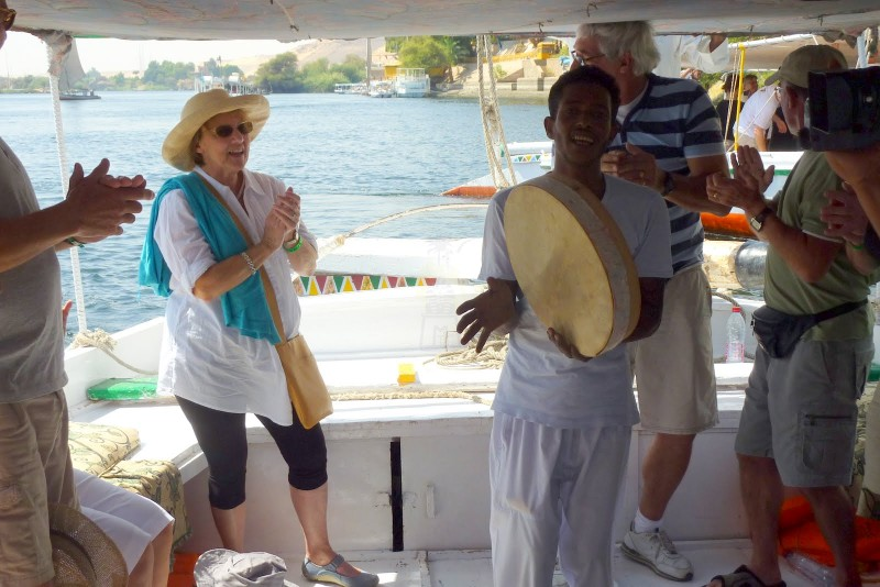 Motorboat ride on the Nile, Aswan