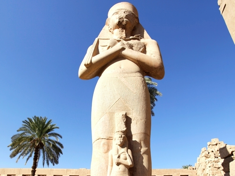 Statue of Rameses II in Luxor Temple