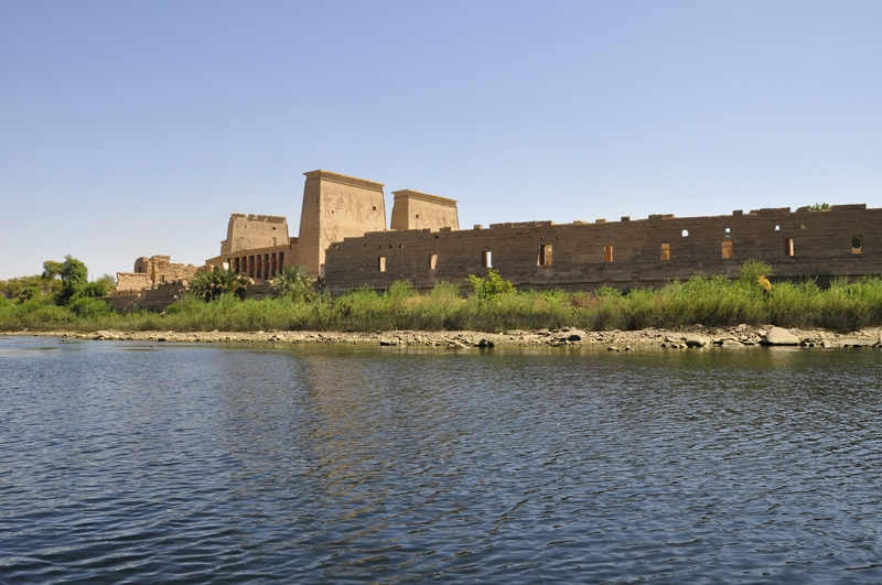 Sailing Beside The Philae Temple