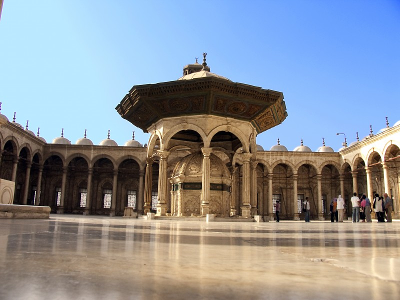 Alabaster Mosque in the Citadel of Cairo in Egypt