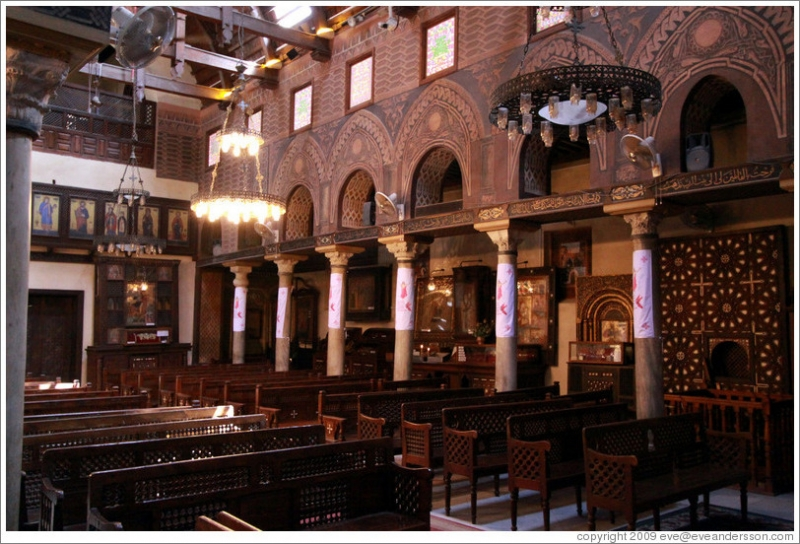 The Hanging Church Interior in Old Cairo