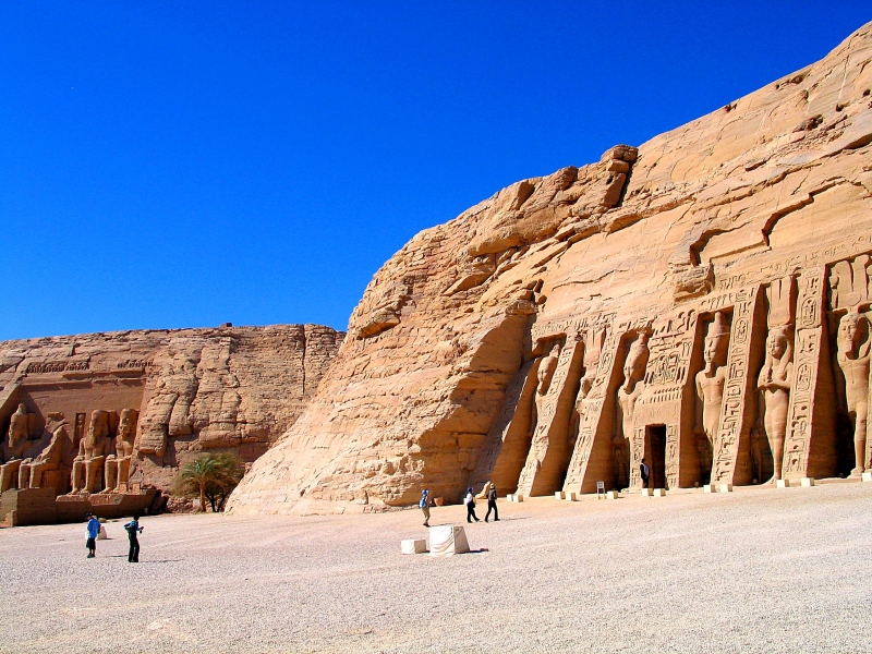The Temples of Ramses II and Nefertari at Abu Simbel