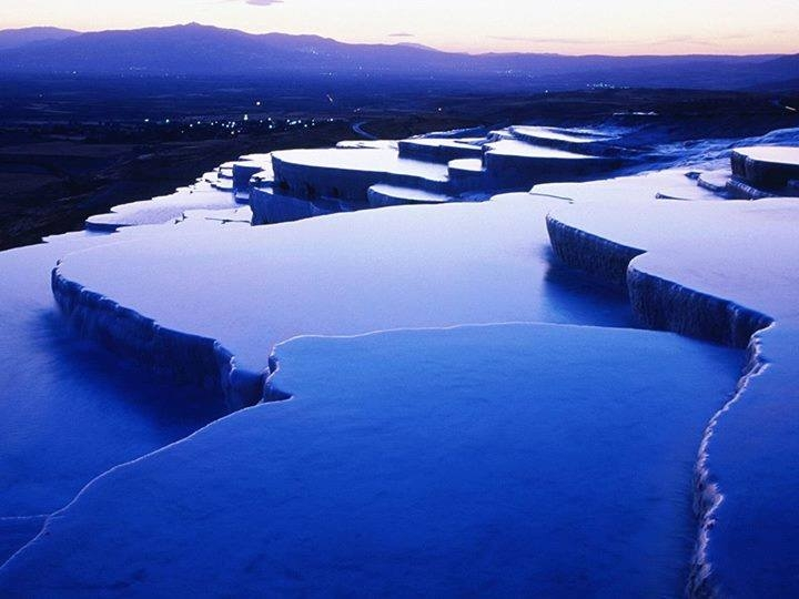 The calcium terraces of Pamukkale