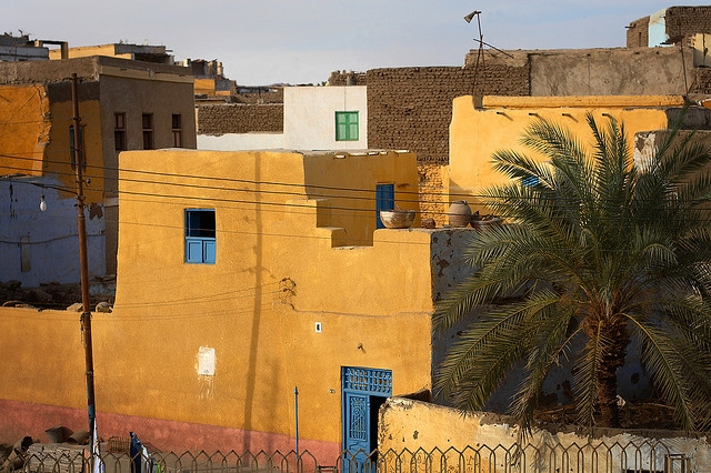 Nubian Houses Overlooking the Nile at Elephantine Island